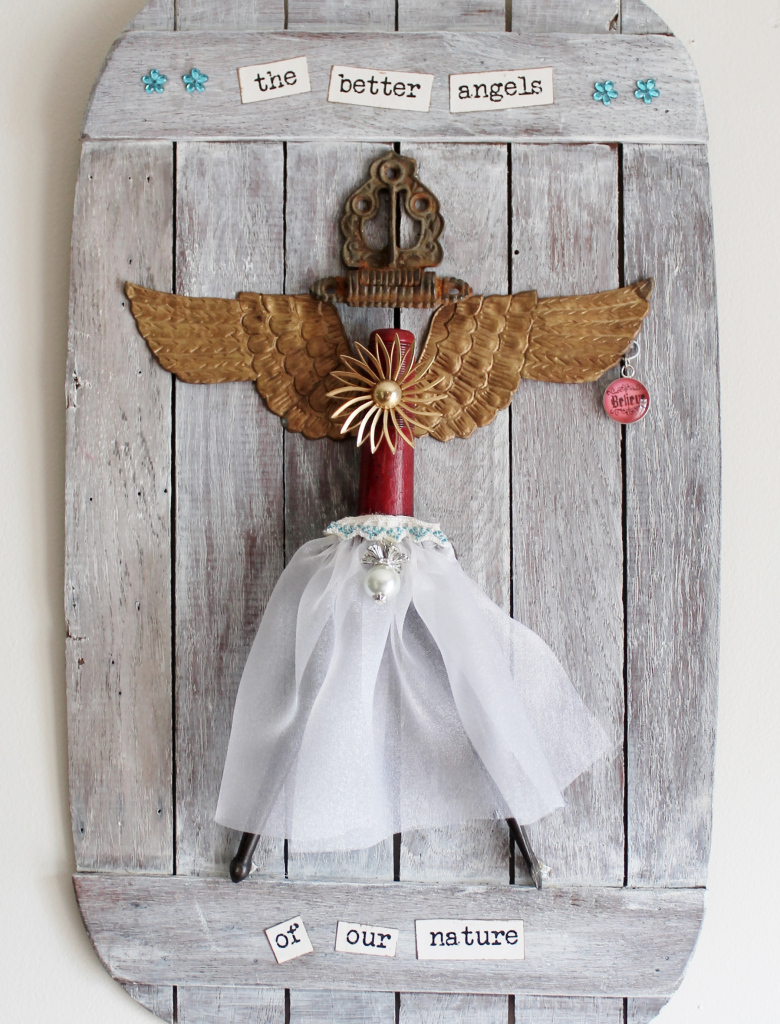 Vintage Junk Art Angel by Adirondack Girl At Heart, featured on Funky Junk Interiors