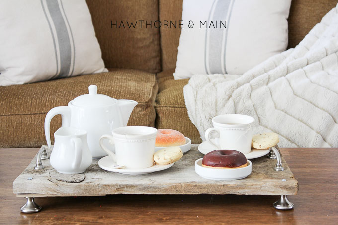 Barn wood serving tray by Hawthorne & Main on AKA Design, featured by Funky Junk Interiors