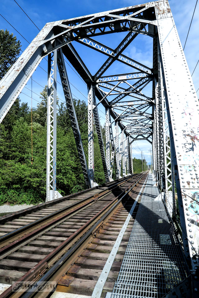 train track bridge over the Vedder River / funkyjunkinteriors.net