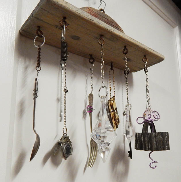 Rustic wind chime, by Junk for Joy, featured on Funky Junk Interiors