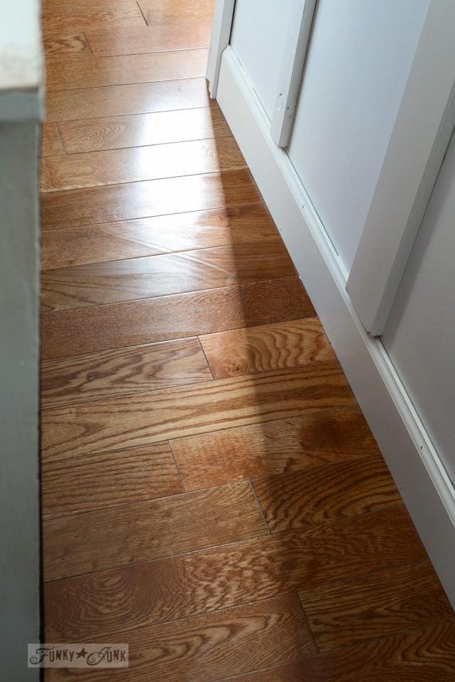 a clean hardwood floor