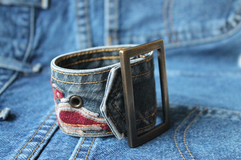 Upcycled Bracelets from Vintage Belts by Adirondack Girl At Heart, featured on Funky Junk Interiors