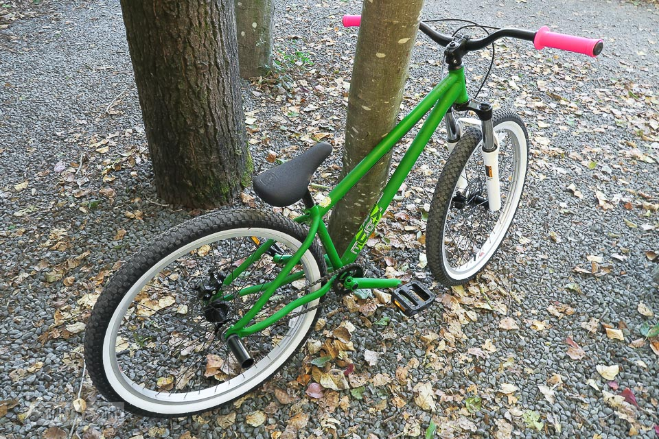 Green Nordco trickster mountain bike / funkyjunkinteriors.net