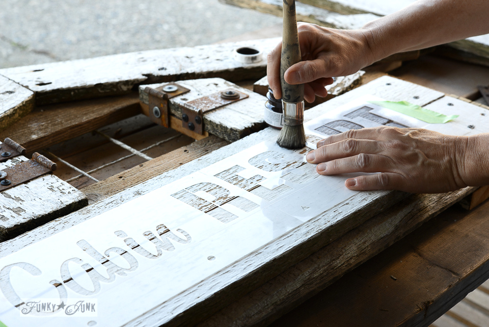 Everything you need to know about stencilling - featuring Old Sign Stencils | funkyjunkinteriors.net