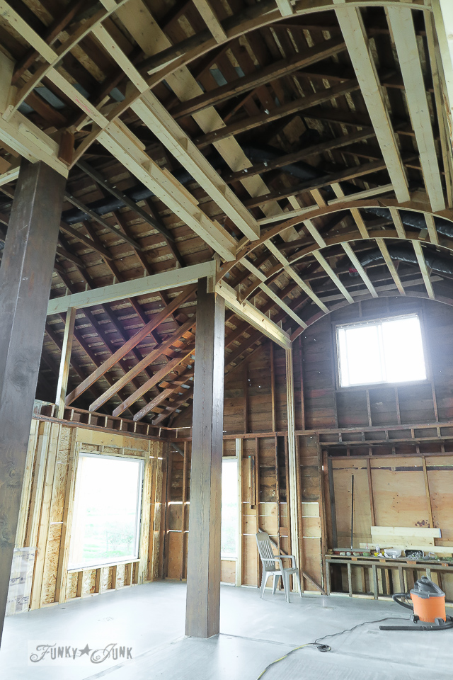 curved ceiling framework, part of a major farmhouse reno / funkyjunkinteriors.net