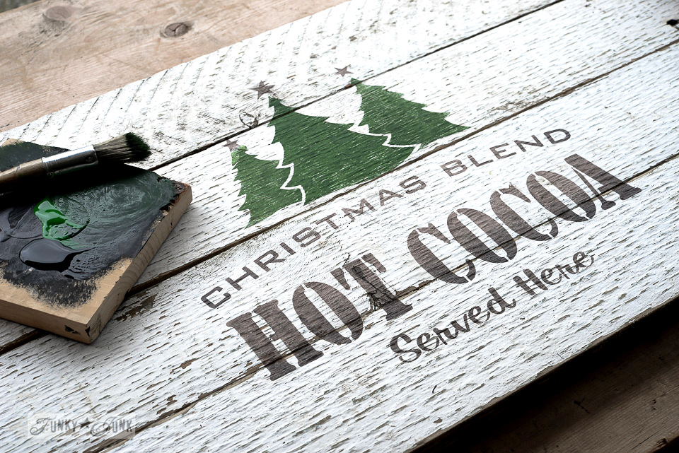 Christmas Blend Hot Cocoa Served Here / Old Sign Stencils