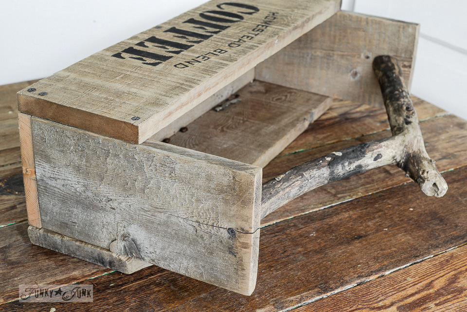 Reclaimed Wood Toolbox And Coasters For Coffee Loversfunky Junk