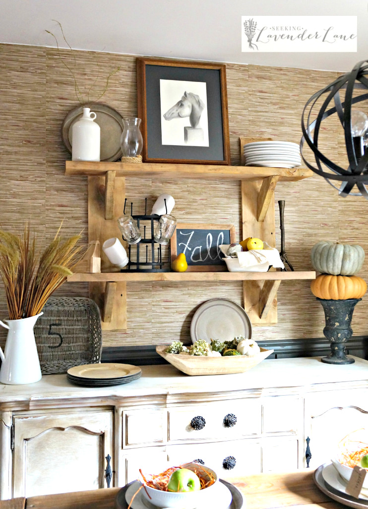 DIY Rustic Floating Shelves by Seeking Lavender Lane, featured on Funky Junk Interiors
