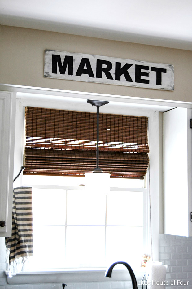 "DIY Vintage ""Market"" Sign by Little House of Four, featured on Funky Junk Interiors"