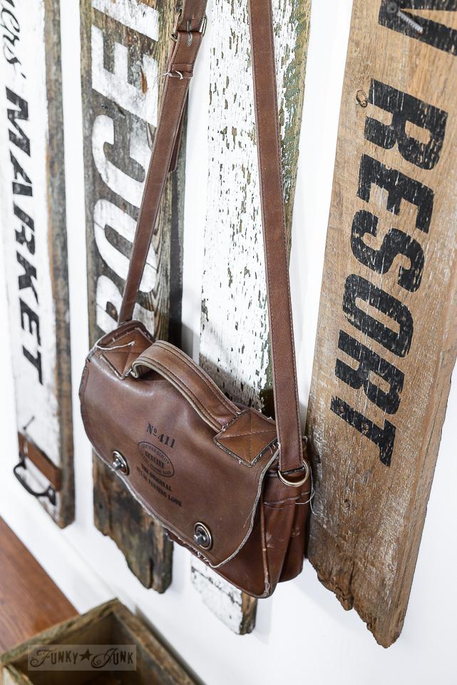 hallway old sign coat hook entry funky junk's old sign stencils / funkyjunkinteriors.net