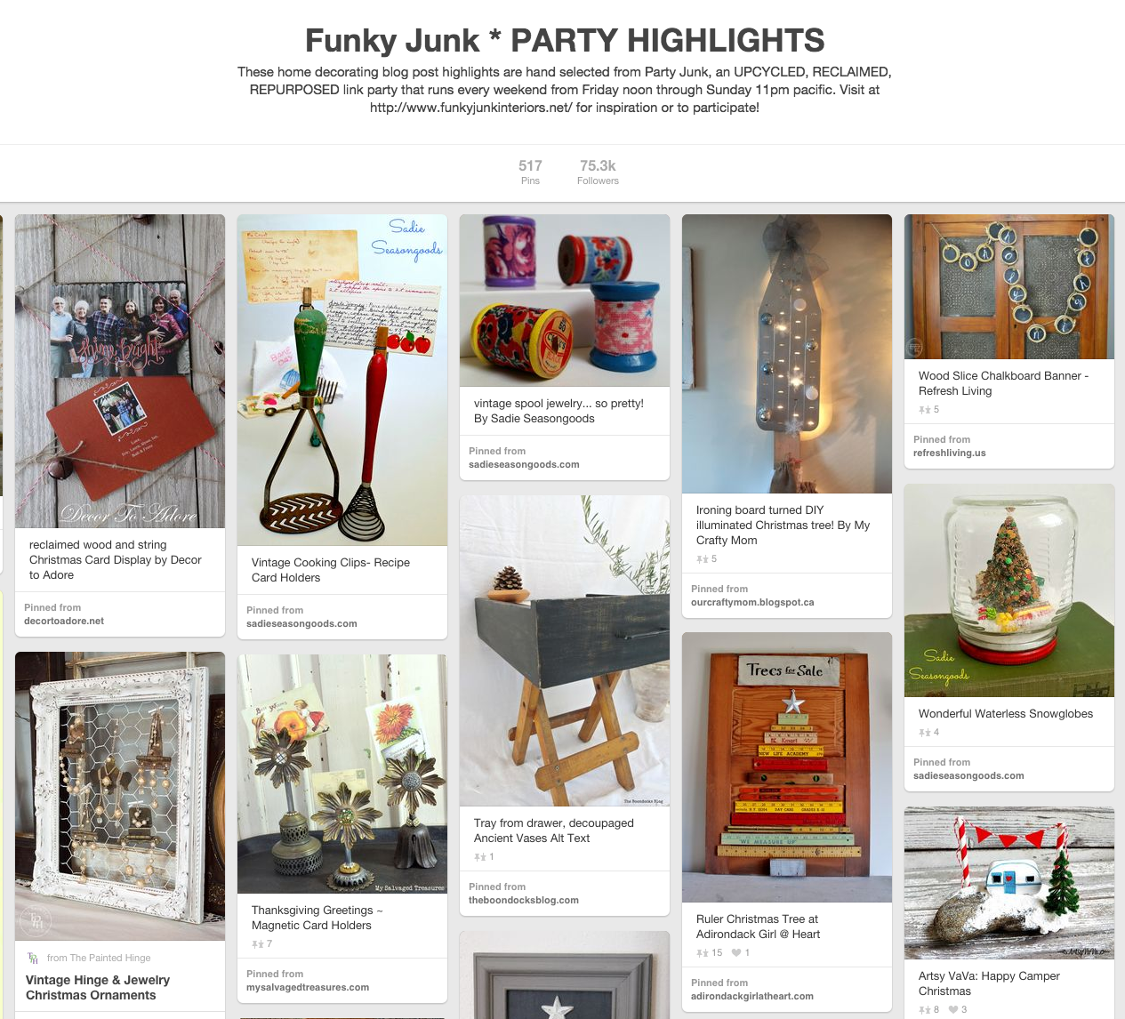 Funky Junk's Party Highlights on Pinterest.43 PM