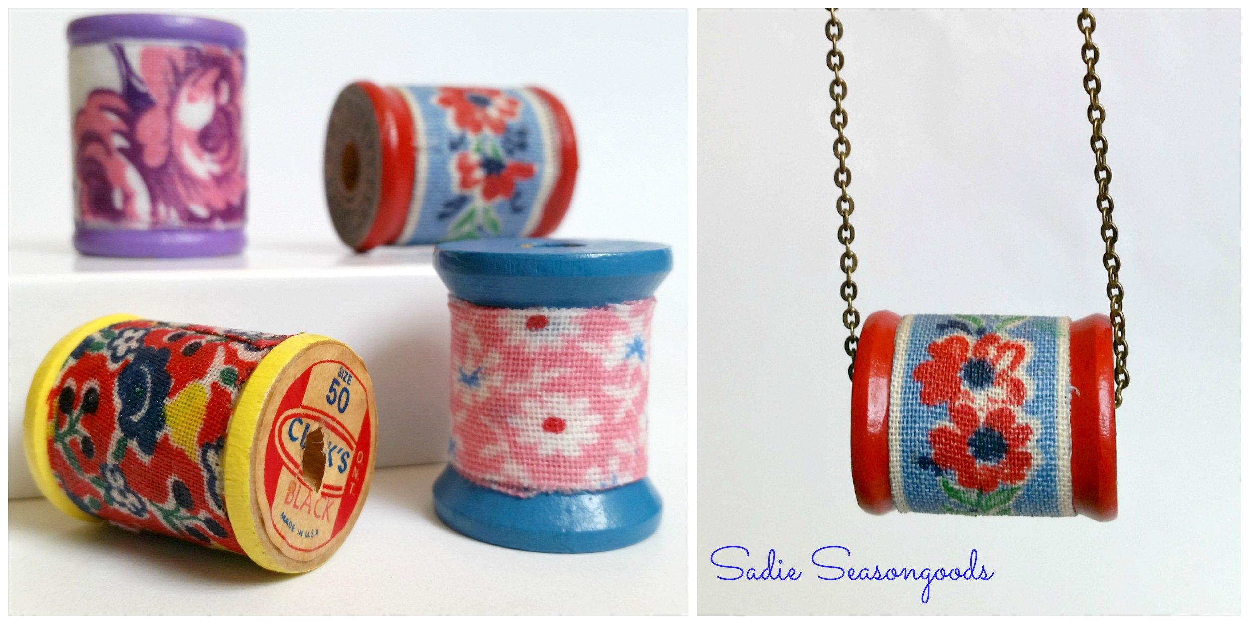 Flower Power Spool Jewels by Sadie Seasongoods, featured on Funky Junk Interiors