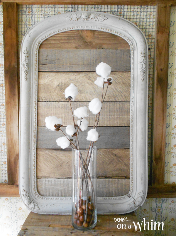 Framed Pallet Wood Backdrop by Denise on a Whim, featured on Funky Junk Interiors