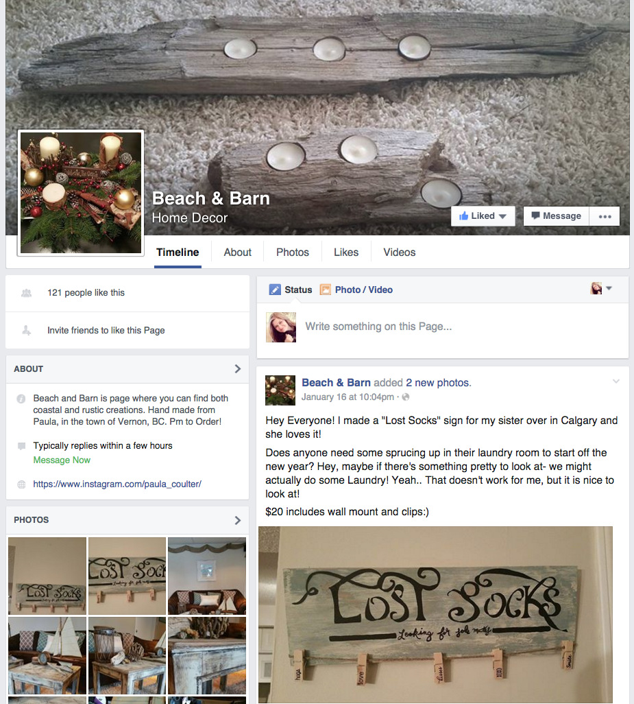 Beach and Barn Home Decor on Facebook, featured on Funky Junk Interiors