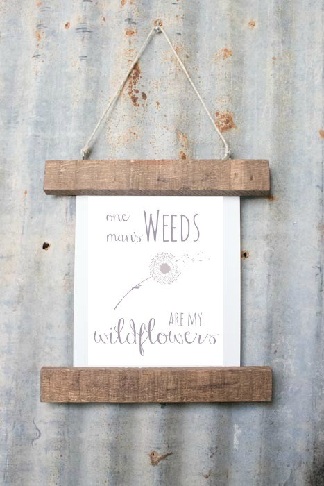 Reclaimed wood printable frame, by Lovely Weeds, featured on Funky Junk Interiors