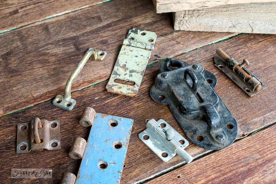 Rusty, old painted hardware and hinges / funkyjunkinteriors.net