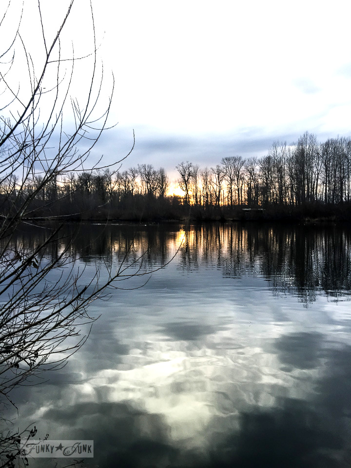 gorgeous sunset at the Great Blue Heron Reserve in Chilliwack / funkyjunkinteriors.net