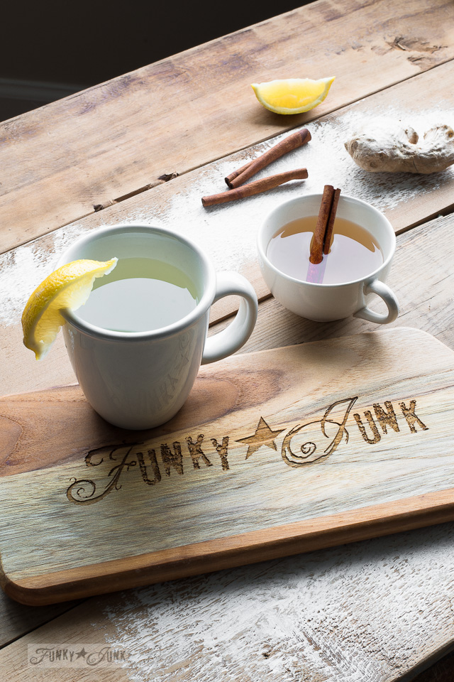 Soothing, fresh ginger tea. All natural, full of antioxidants, and absolutely delicious! Steeped 2 ways. funkyjunkinteriors.net