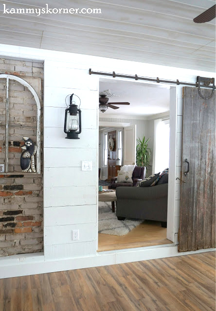 Barn door, by Kammy's Korner, featured on Funky Funky Junk Interiors