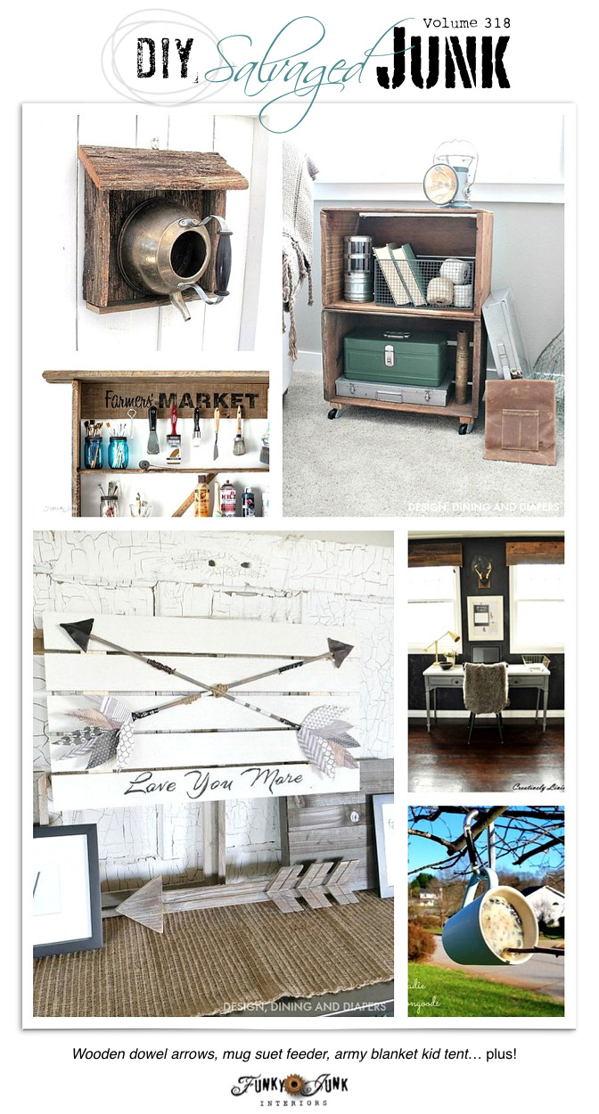 DIY Salvaged Junk! Features and a link party on funkyjunkinteriors.net