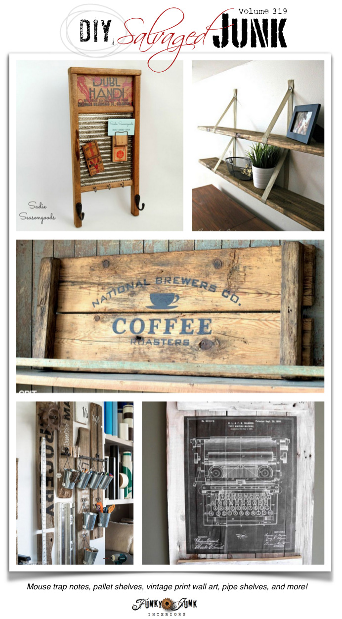 The BEST DIY Salvaged Junk! - outstanding features and new junk projects! funkyjunkinteriors.net