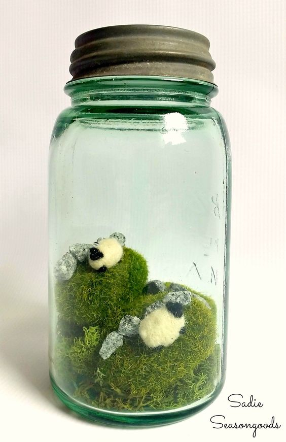 Ireland in a mason jar, by Sadie Seasongoods, featured on Funky Junk Interiors