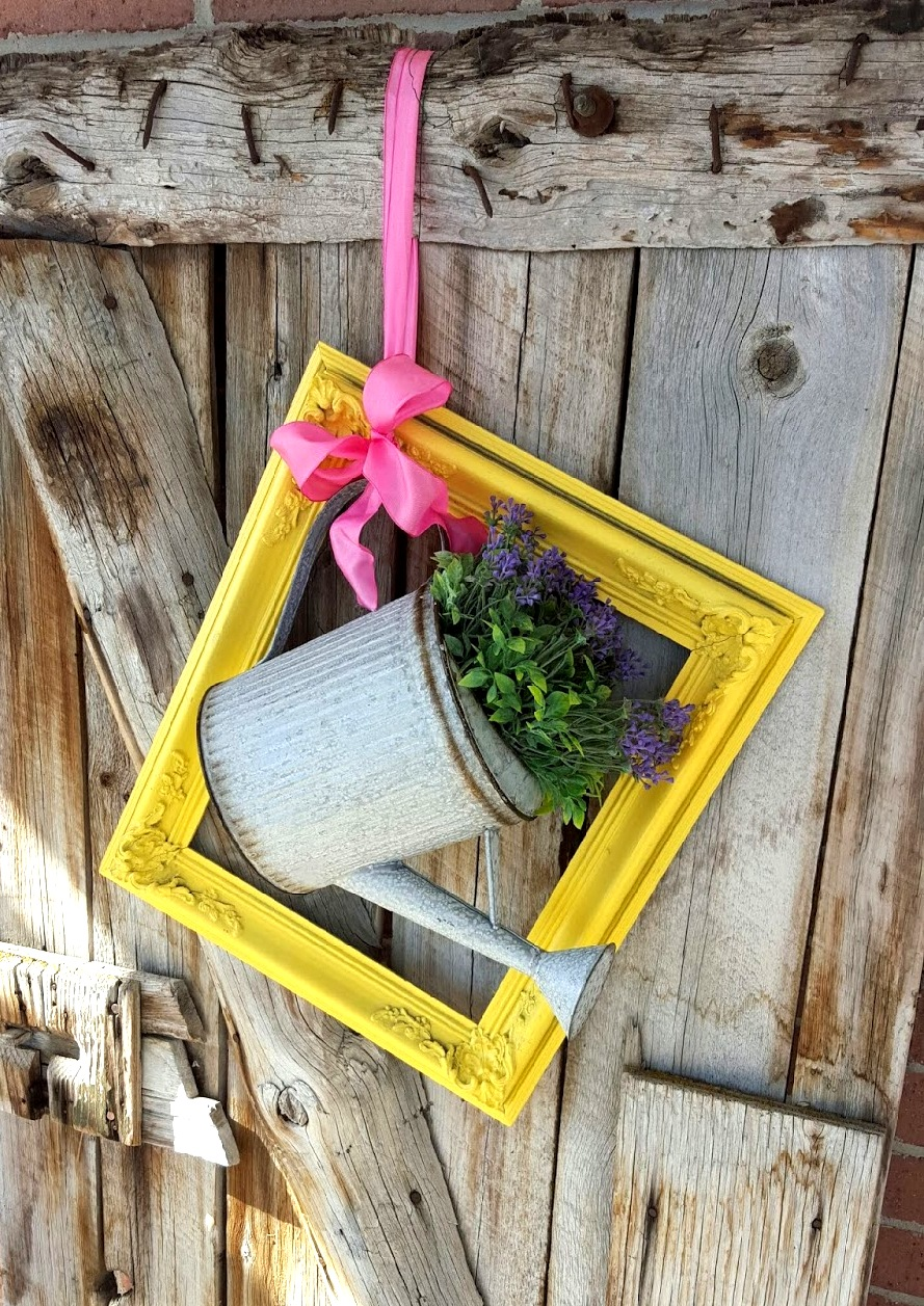 Watering can wreath, by Creative Decor By Brooke, featured on Funky Junk Interiors