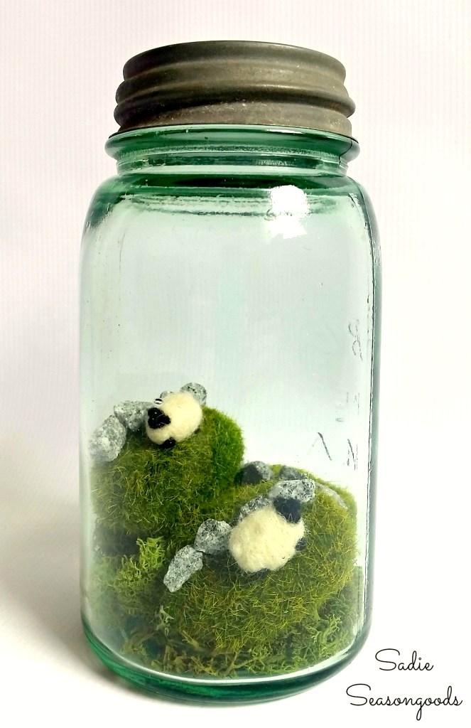 Ireland in a Jar by Sadie Seasongoods, featured on Funky Junk Interiors