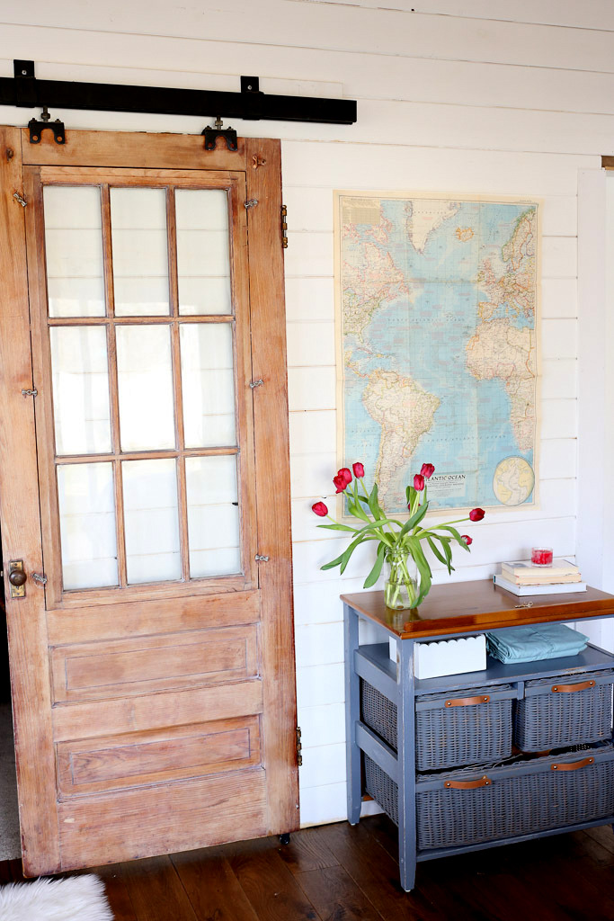 Antique barn door, by This Mamas Dance, featured on Funky Junk Interiors