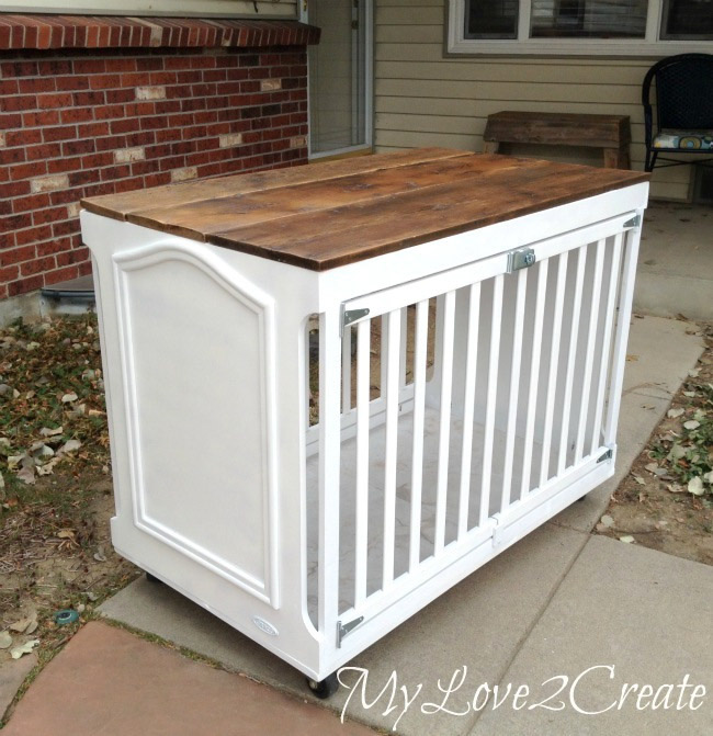 From crib to dog crate, by My Love 2 Create, featured on Funky Junk Interiors