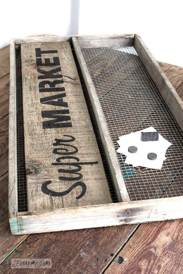 Super Market soil sifter memo board-3634