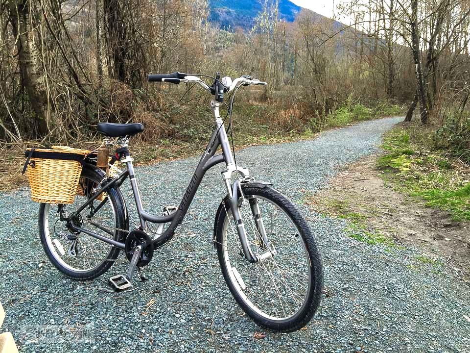 A bike on a gravel trail ride / funkyjunkinteriors.net