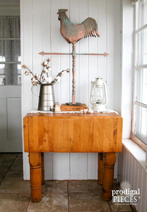 DIY weathervane, by Prodigal Pieces, featured on Funky Junk Interiors