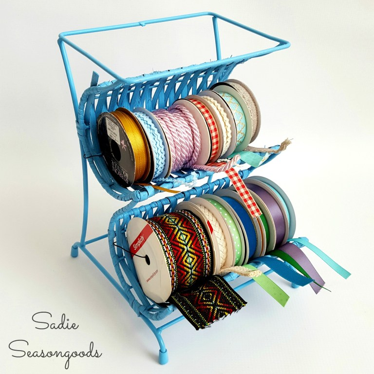 "Wine Rack to Ribbon ""Cradle"", by Sadie Seasongoods, featured on Funky Junk Interiors"