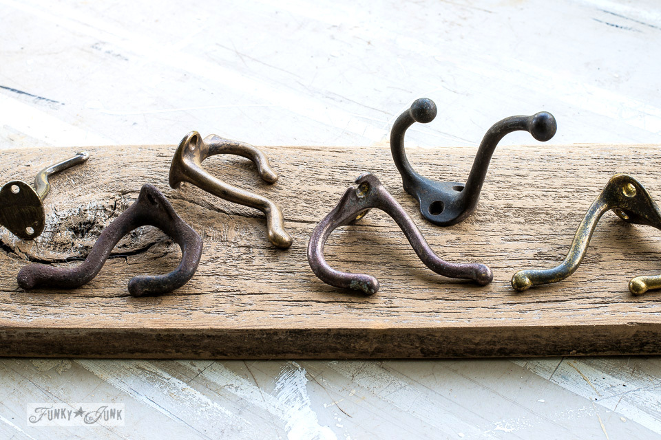 rustic vintage styled coat hooks from Villabarnes on Etsy