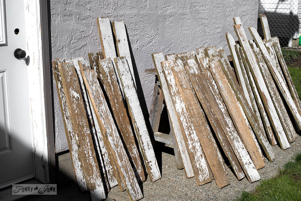how to clean chippy white reclaimed wood by pressure washing / funkyjunkinteriors.net