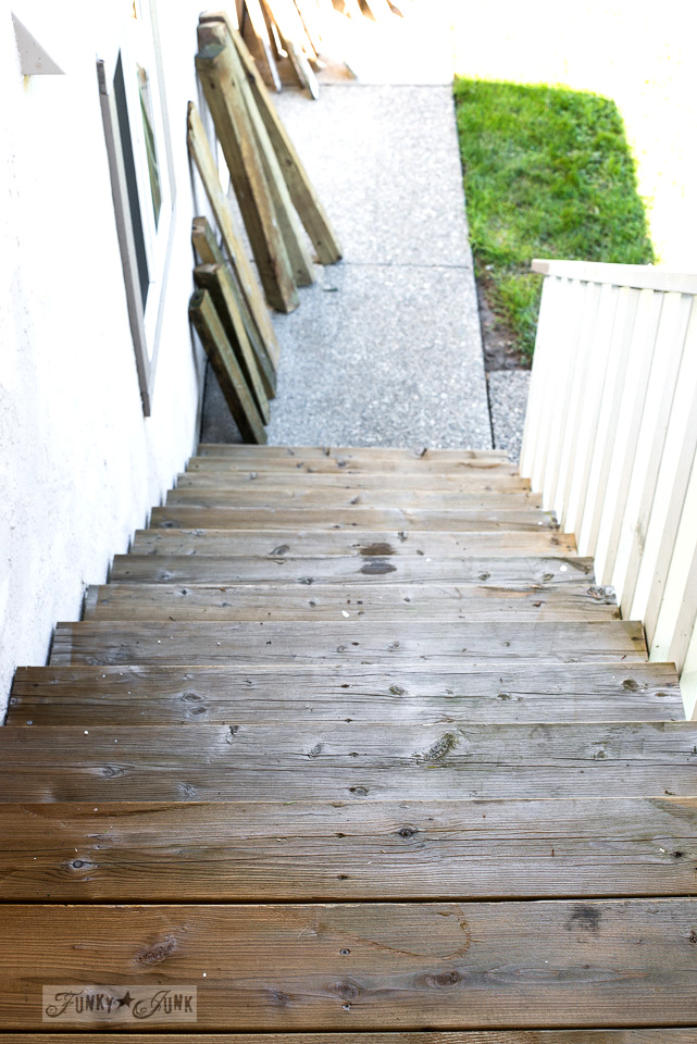 clean outdoor patio stairway from pressure washing / funkyjunkinteriors.net