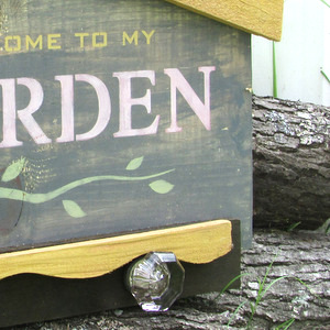 Garden Up Green using Funky Junk's Old Sign Stencils