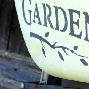 Beyond the Picket Fence using Funky Junk's Old Sign Stencils
