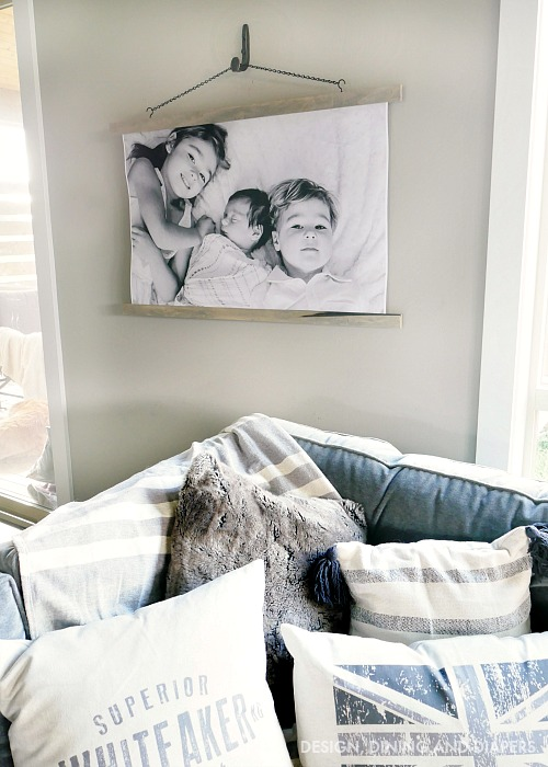 Vintage inspired picture frame, by Designing, Dining and Diapers, featured on Funky Junk Interiors