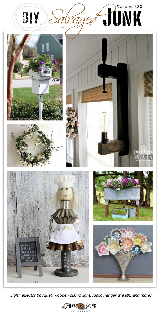 DIY Salvaged Junk volume 330 - junky features and a themed link party on Funky Junk Interiors