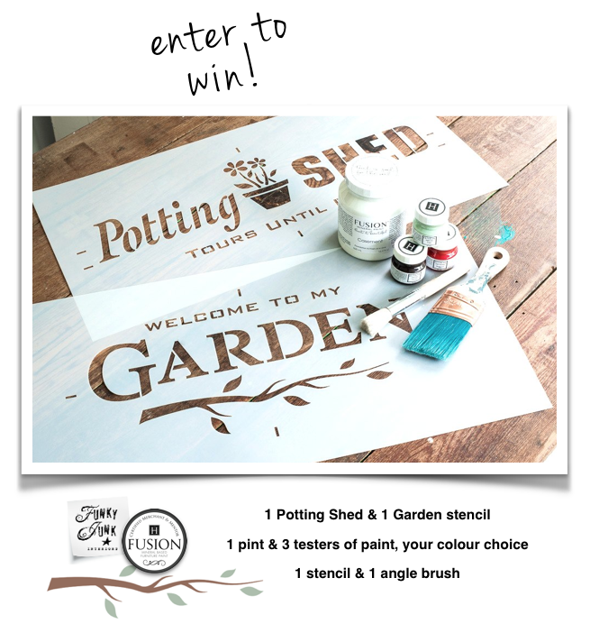 Enter to win! Funky Junk's Old Sign Stencils & Fusion Mineral Paint Giveaway & Event