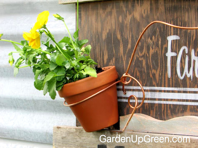 Reclaimed Wood Farmer's Market Sign by gardenupgreen.com, featured on Funky Junk Interiors