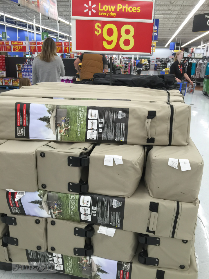 Walmart selling cheap market tents
