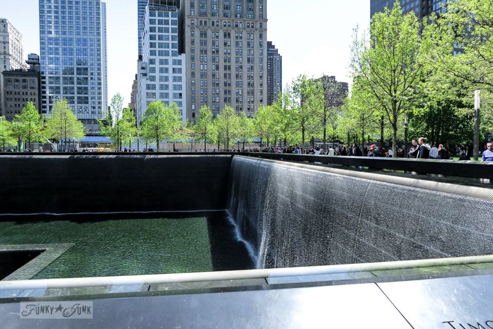 Waterfall of the 9-11 Memorial in New York City / funkyjunkinteriors.net
