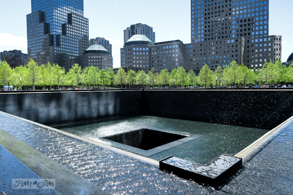 Tree lined view of the 9-11 Memorial in New York City / funkyjunkinteriors.net