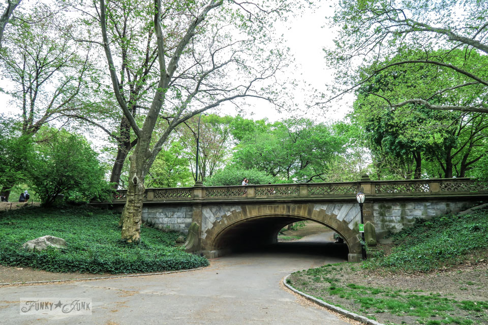 A gorgeous bridge in New York City's Central Park / funkyjunkinteriors.net