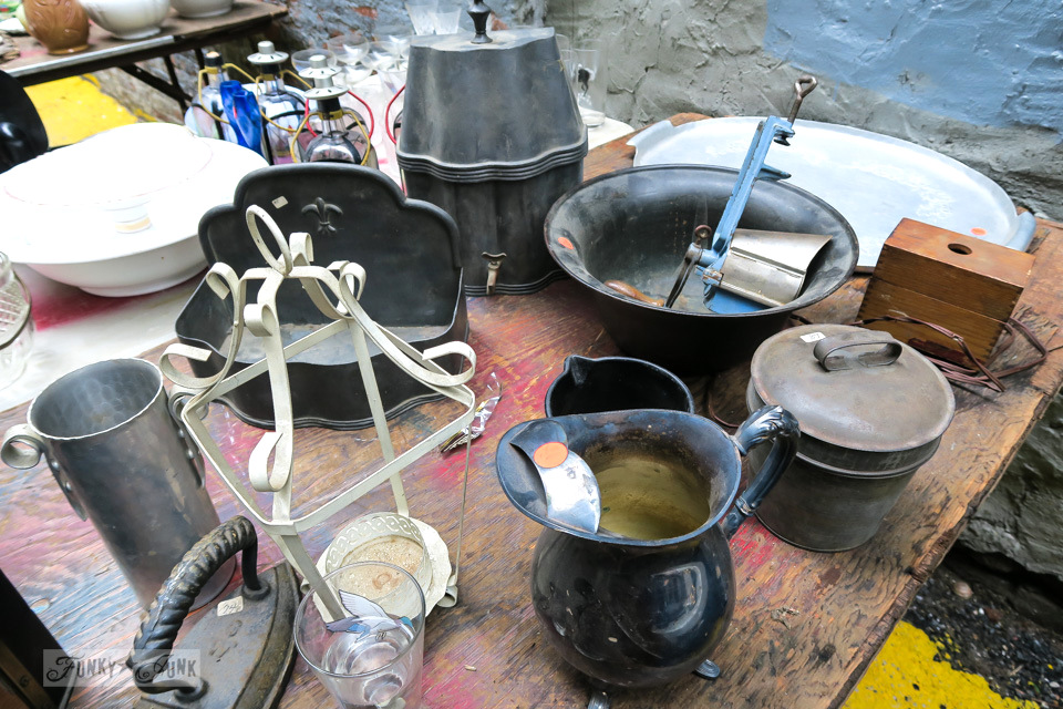 Antiques and junk for sale at the Chelsea Flea Market in New York City / funkyjunkinteriors.net