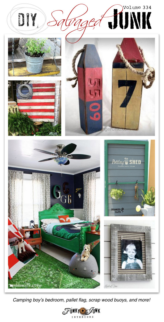 DIY Salvaged Junk Volume 334 - gorgeous featured and a themed link party on funkyjunkinteriors.net