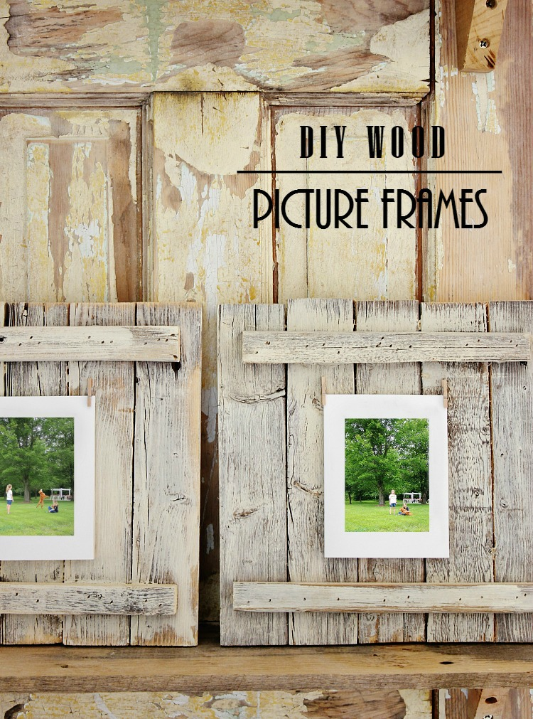Picture frame project by Thistlewood Farms, featured on Funky Junk Interiors